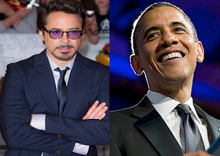 Robert Downey Jr. with obama