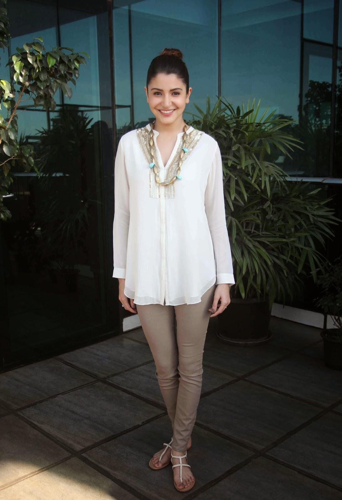 Indian Actress Anushka Sharma Hot Photoshoot In White Dress