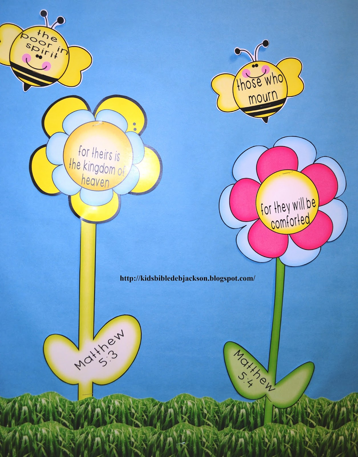 Bible Fun For Kids The Beatitudes Bee Attitudes Bulletin
