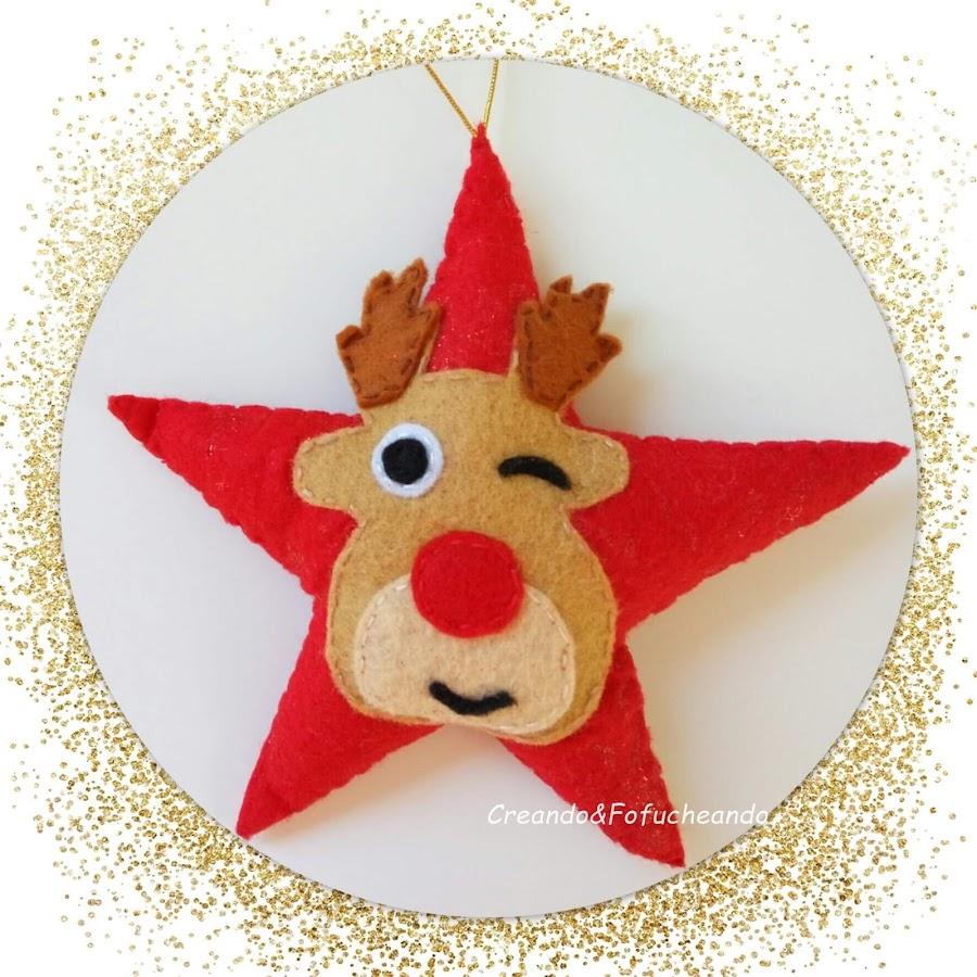 estrella-navideña-con-reno-en-fieltro-creandoyfofucheando