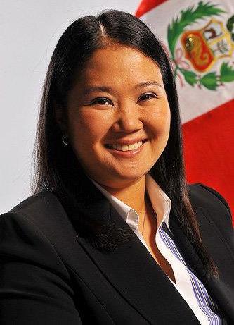 Foto de Keiko Fujimori sonriendo