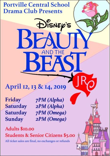 4-12/13/14 Beauty & the Beast, Portville, NY