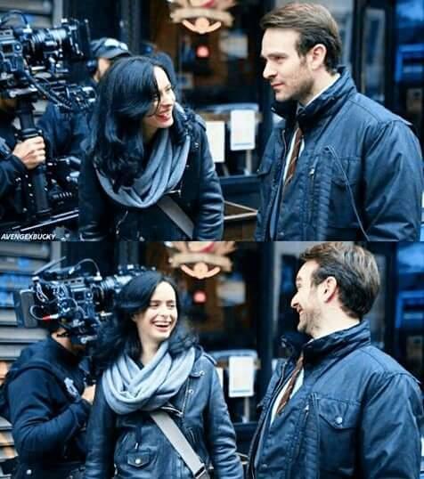Krysten Ritter Charlie Cox Defenders Filming