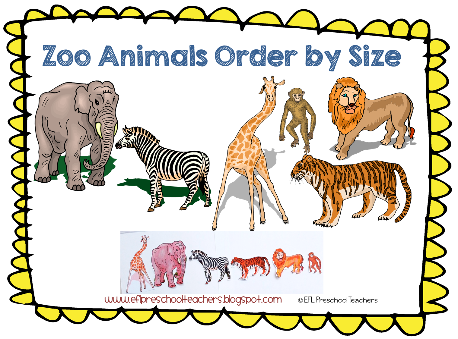 Esl Efl Preschool Teachers Zoo Animal Theme For The Kindergarten Ell