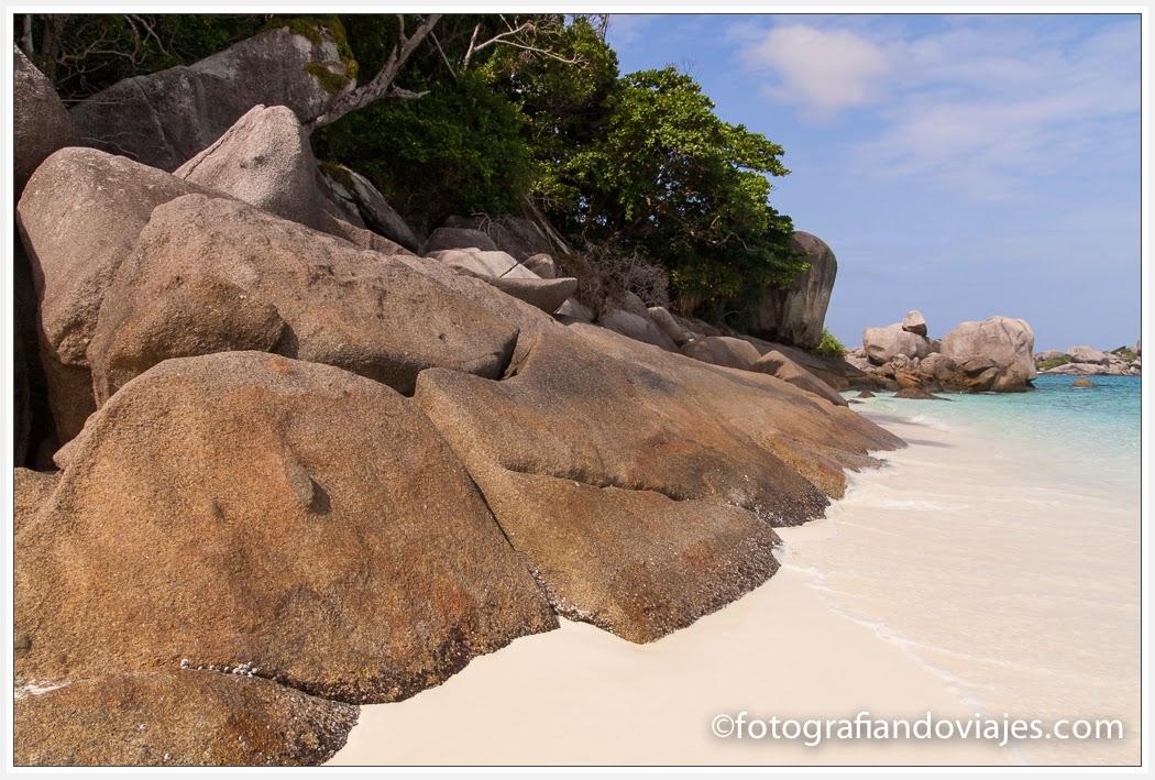 Playas en Similan, Tailandia