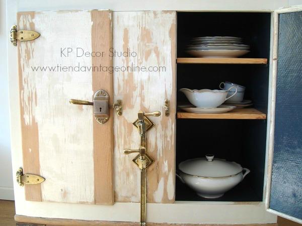 Comprar mueble para almacenaje en madera decapada