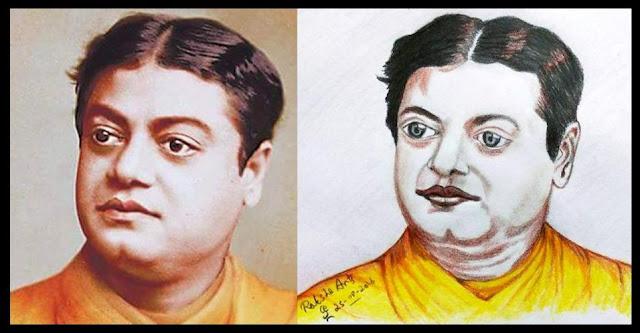 PENCIL DRAWING - Swami Vivekananda