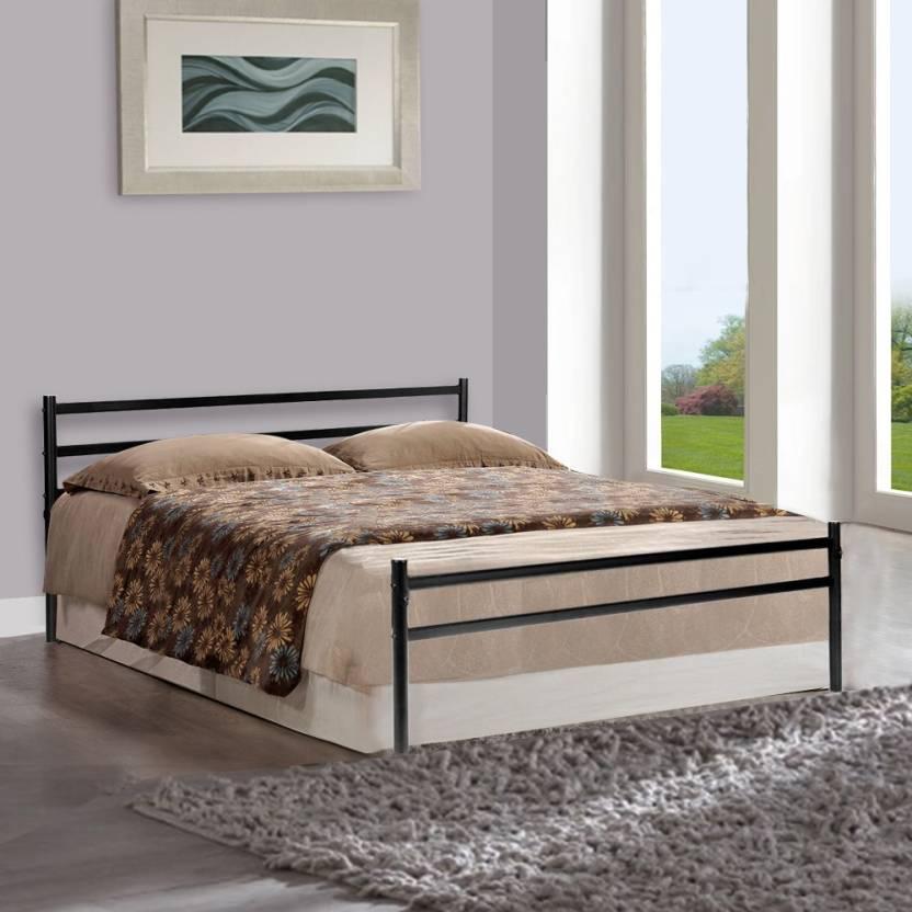 Superb FurnitureKraft Palermo Metal Queen Bed Finish Color Black at Rs Only