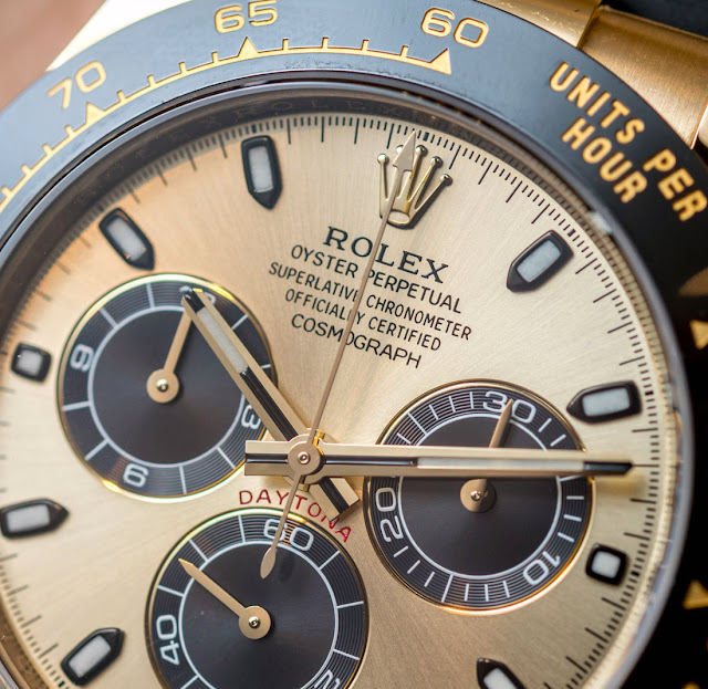 Best Quality Replica Rolex Daytona 14K Yellow Gold Watch Description