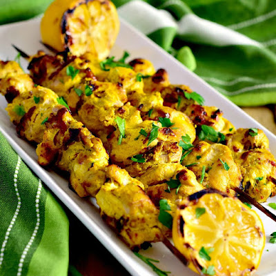 Spiced Yogurt Chicken Kabobs