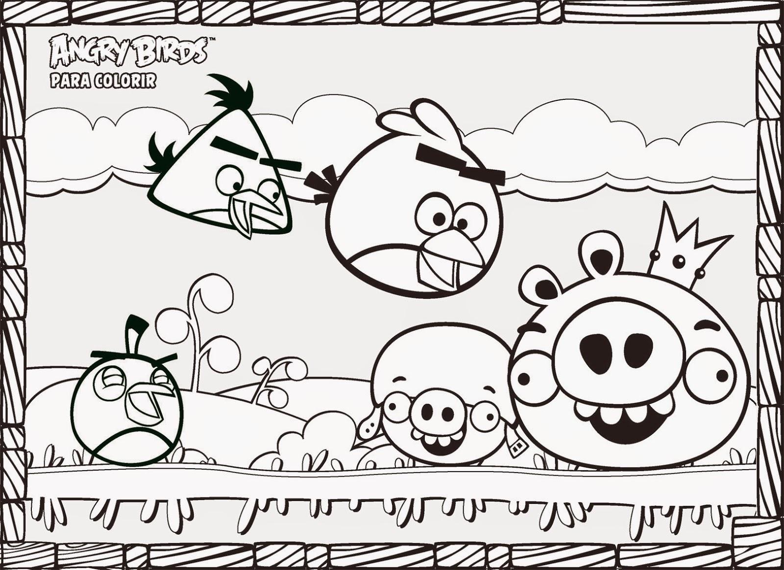 Desenho Angry Birds Menina Para Colorir: COLORINDO COM AS LEMBRANCINHAS RCBX: Desenhos Para Colorir