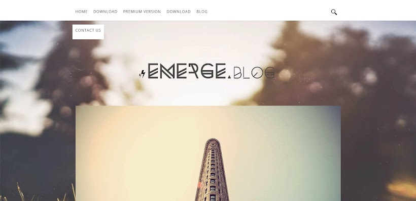 Emerge Free Blogger Template