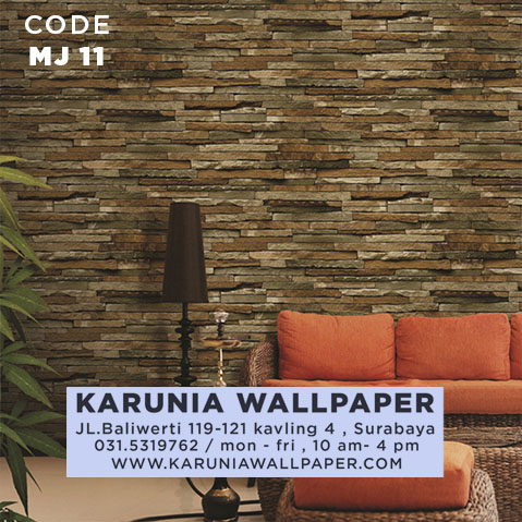 jual wallpaper 3d batu bata