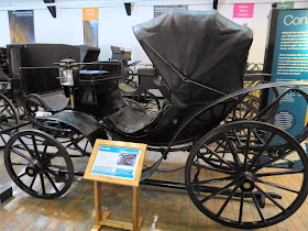 A carriage called a Victoria