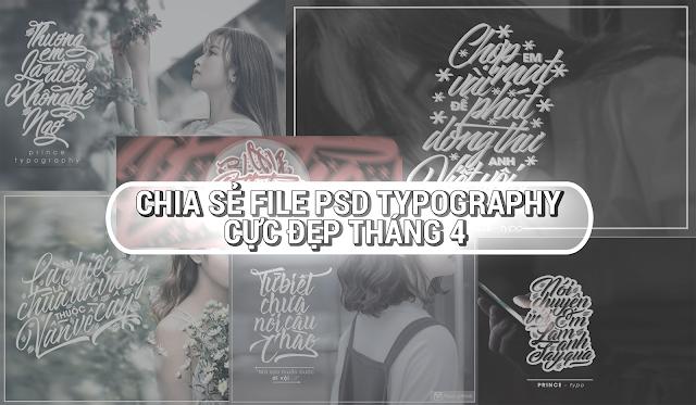 Chia Sẻ PSD Một Số Typography Cực Đẹp Tháng 4