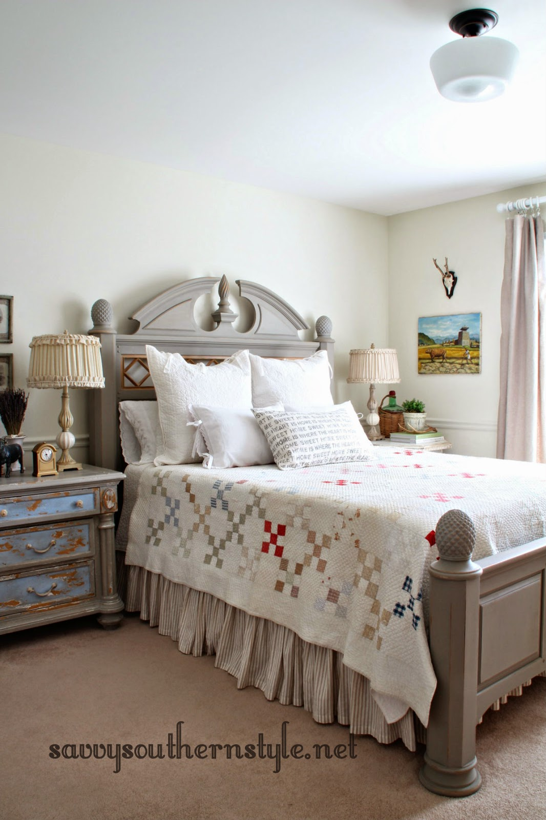 Savvy southern style old bed new look for French farmhouse bed