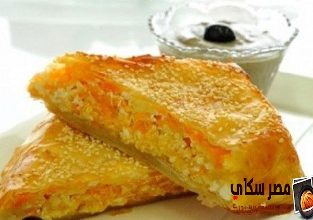 طريقة عمل البوريك المخلوط بالجبن والسمسم