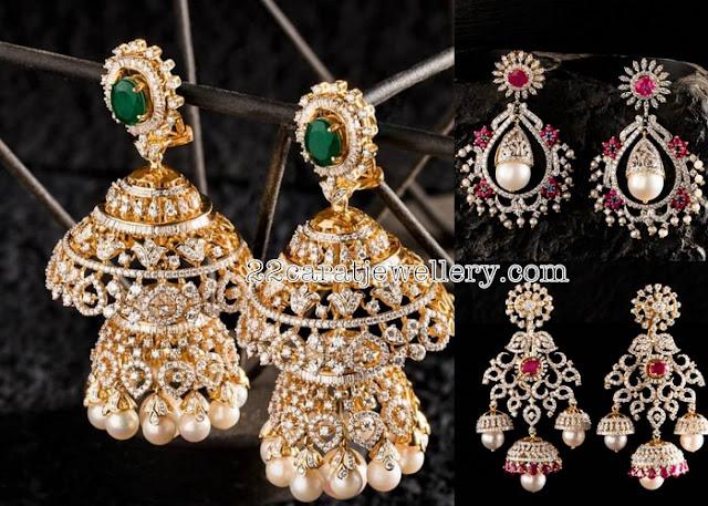 Trendy Diamond Jhumkas by Nac