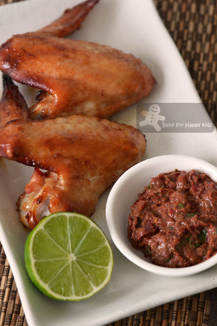 honey baked chicken wings sambal belacan