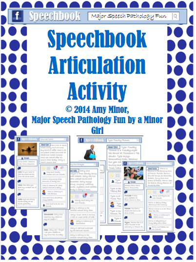 Speechbook Articulation Activity!