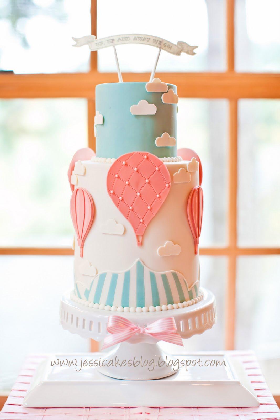 Hot Air Balloon Cake Up Up And Away Jessica Harris Cake Design