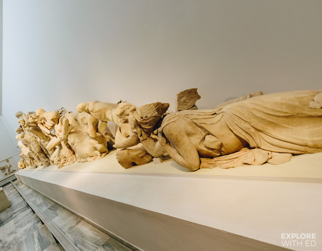 The significant collection in Olympia's Museum include statues from the Temple of Zeus