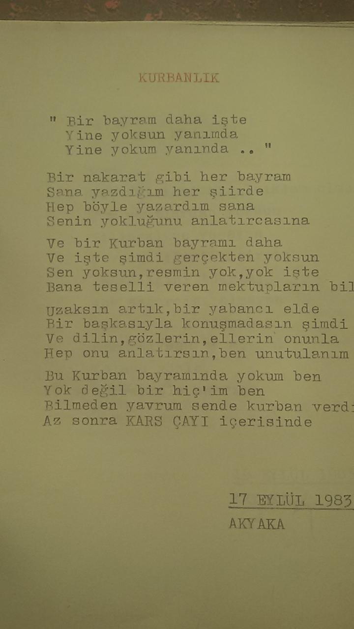 Asker Şiirleri - Kurbanlık