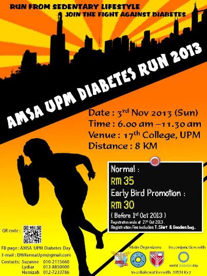 RUNNING WITH PASSION: AMSA UPM Diabetes Run 2013