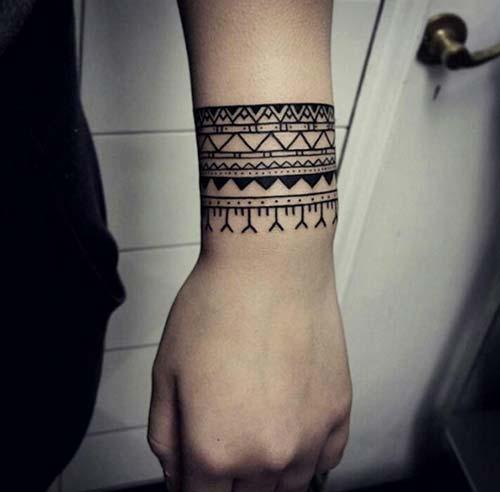 geometrik bilek dövmeleri geometric wrist tattoos 10