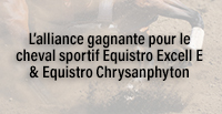L'alliance gagnante pour le cheval sportif Equistro Excell E & Equistro Chrysanphyton