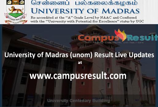 unom result 16,Madras University Result 2016,campusresult.com
