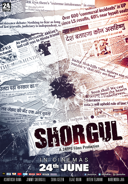 full cast and crew of bollywood movie Shorgul! wiki, story, poster, trailer ft Jimmy Shergill, Ashutosh Rana, Hiten Tejwani, Eijaz Khan and Narendra Jha