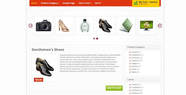 Theme Blogspot bán hàng khá là đẹp