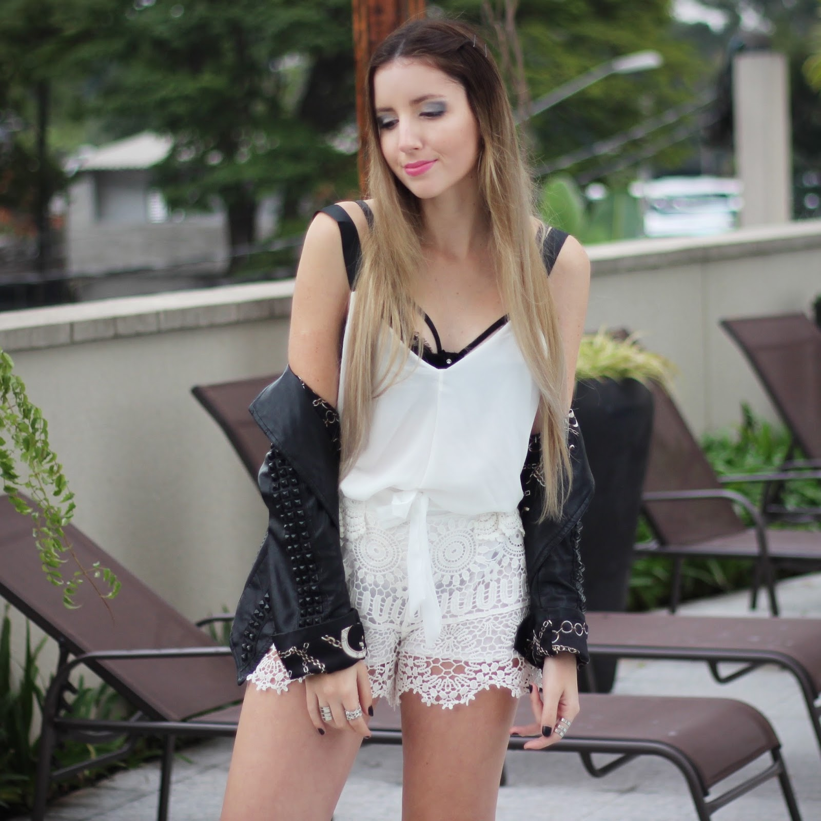 Look do dia preto e branco