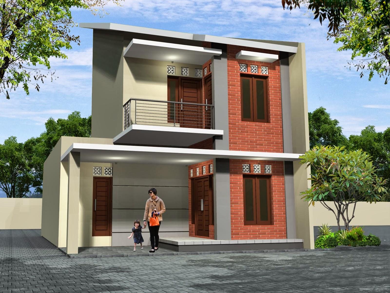 Desain Rumah Minimalis Atap Miring 2 Sisi Cek Bahan Bangunan
