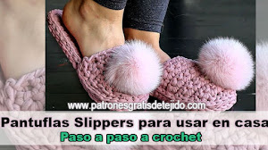 Cómo tejer pantuflas de descanso con trapillo / DIY