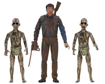 "Ash vs Evil Dead ""Bloody Ash vs Demon Spawn"" Action Figure 3 Pack"