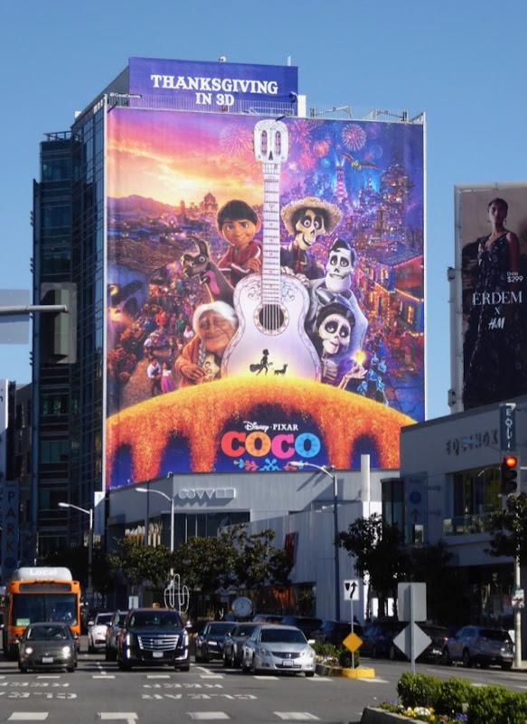 Giant Disney Pixar Coco movie billboard