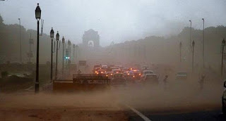 dust storms hit north India