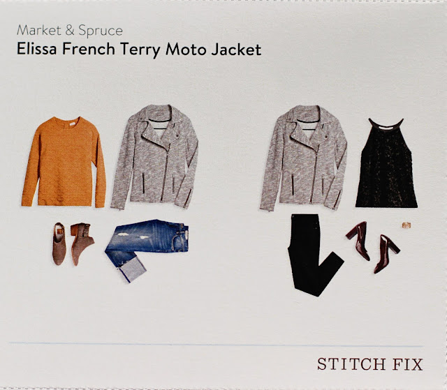 stitch fix Market & Spruce Elissa French Terry Moto Jacket style card