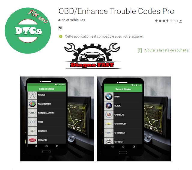 تطبيق خطير لتشخيص أعطال السيارات  OBD CODES Pro