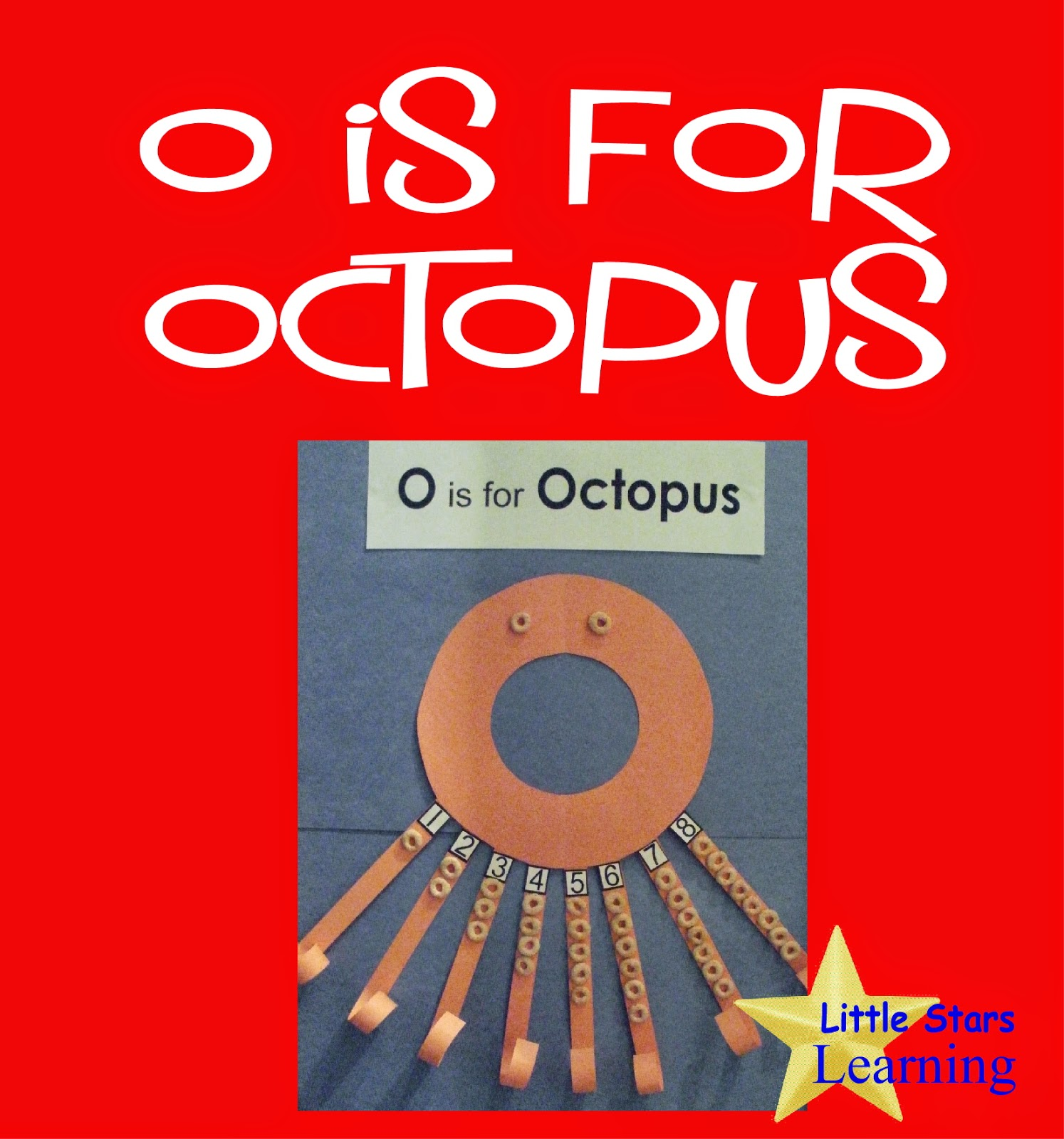 Little Stars Learning O Is For Octopus