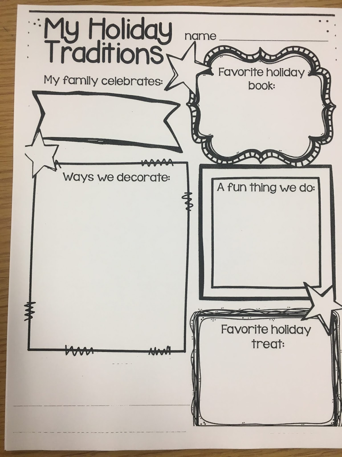 Holiday Homework For Kindergarten Holiday Homework