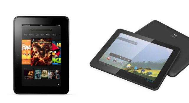 Bq Curie 2 VS Kindle Fire HD 7 | Comparativa detallada de sus diferencias