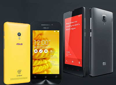 Perbandingan Asus Zenfone 4S vs Xiaomi Redmi 1S