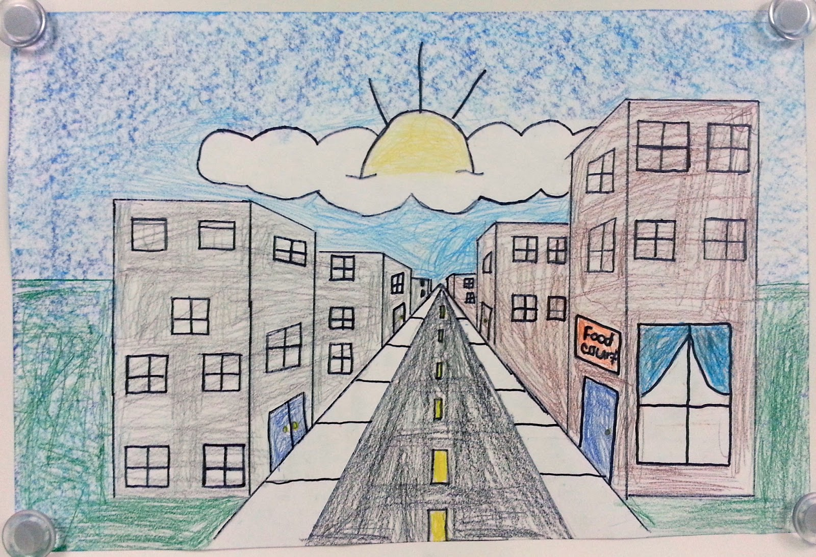 One Point Perspective City Streets 5th Art With Mrs