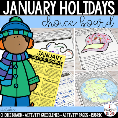Picture of January Choice Board TpT Product