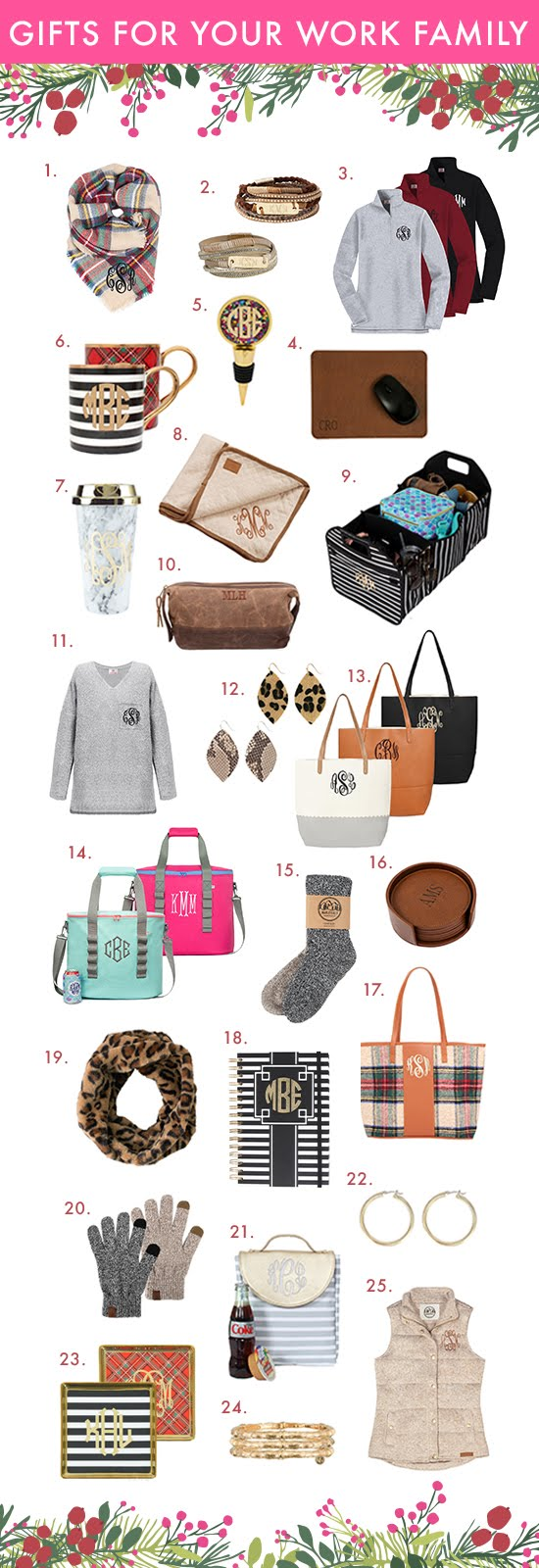 monogram gifts for the workplace