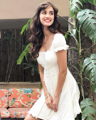 Disha Patani in cute white dress