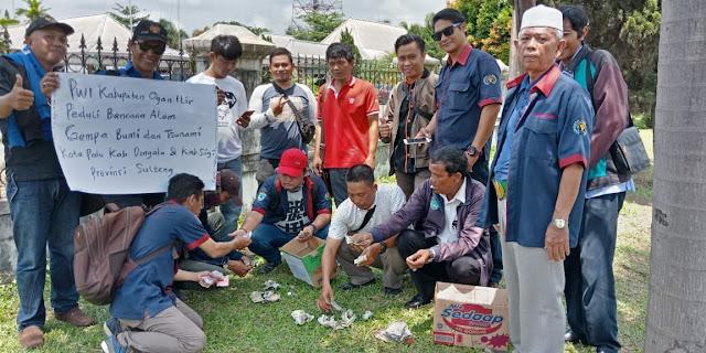 Bantu Korban Gempa dan Tsunami, Wartawan di Ogan Ilir Galang Dana
